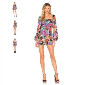 Tularosa Leanne Dress in Magenta Blooms